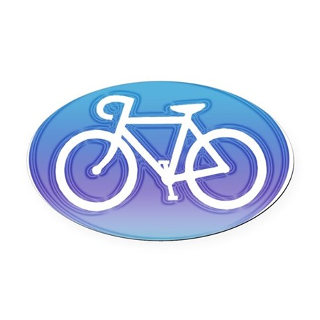 CYCLING Oval Car Magnet