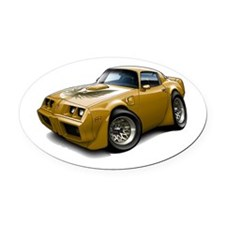 1979-81 Trans Am Gold Car Oval Car Magnet