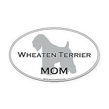 Wheaten Terrier MOM Oval Car Magnet