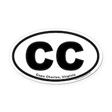 Cape Charles, VA Euro Style Oval Car Magnet