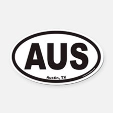 Austin Texas AUS Euro Oval Car Magnet
