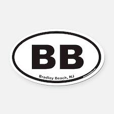 Bradley Beach BB Euro Oval Car Magnet