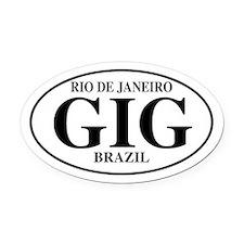 GIG Rio de Janeiro Oval Car Magnet