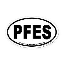 PFES Penn Forest Elementary School Oval Car Magnet