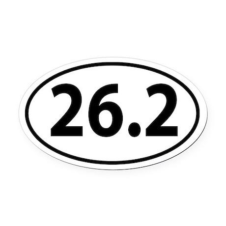 26.2 Marathon Oval decal Oval Car Magnet
