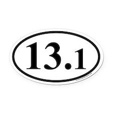 Half Marathon 13.1 Euro Oval Car Magnet
