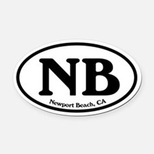 Newport Beach NB Euro Oval Oval Car Magnet