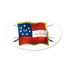 Louisiana Deo Vindice Oval Car Magnet