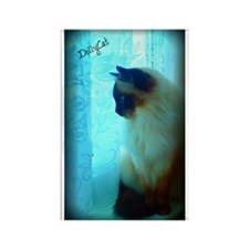 DollyCat Atmosphere - Ragdoll Cat Rectangle Magnet
