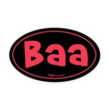 Baa Oval Car Magnet