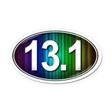 13.1 oh yes i did Oval Car Magnets