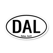 Dallas, Texas Oval Car Magnet