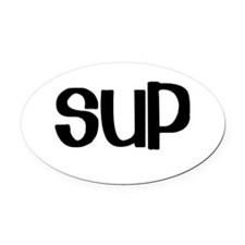 SUP (Stand Up Paddle) Oval Car Magnet