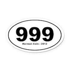 nine, nine, nine Herman Cain Oval Car Magnet