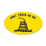 Dont tread on me Oval Car Magnets