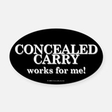 Concealed Carry Oval Car Magnet