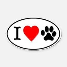 Paw Print Car Magnets Personalized Paw Print Magnetic Signs For - Custom car magnets paw print