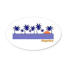 Cute Miami beach Oval Car Magnet