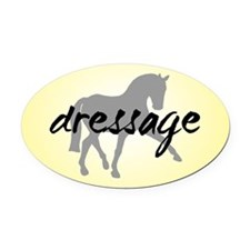 Dressage Sidepass w/ Text Oval Car Magnet