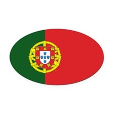 Portugese Flag Oval Car Magnet