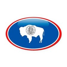 Wyoming Oval Car Magnet