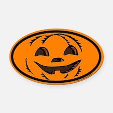 Halloween Euro Oval Car Magnet with Jack O Lantern