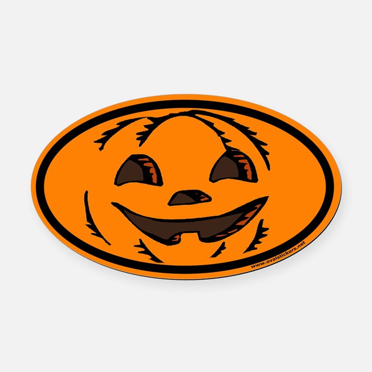 Halloween Euro Oval Car Magnet with Jack O Lantern
