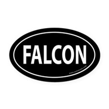 FALCON Auto Oval Car Magnet -Black (Oval)