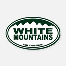 White Mountains Oval Car Magnet