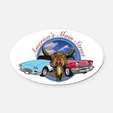 USA MAIN STREET Oval Car Magnet
