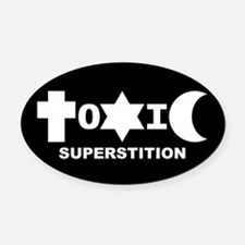 ToXiC Superstition Oval Car Magnet