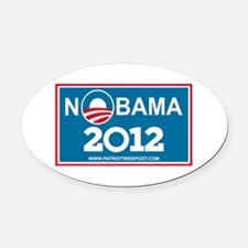 NoBama 2012 No Hope Oval Car Magnet