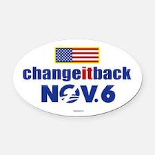 Change it back! Nov 6 Oval Car Magnet
