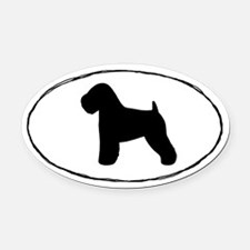 Soft Coated Wheaten Terrier Oval Car Magnet