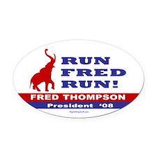 Run Fred Run! Oval Car Magnet