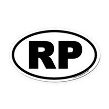 Rocky Point RP Euro Oval Car Magnet