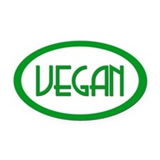 VEGAN Oval Car Magnet