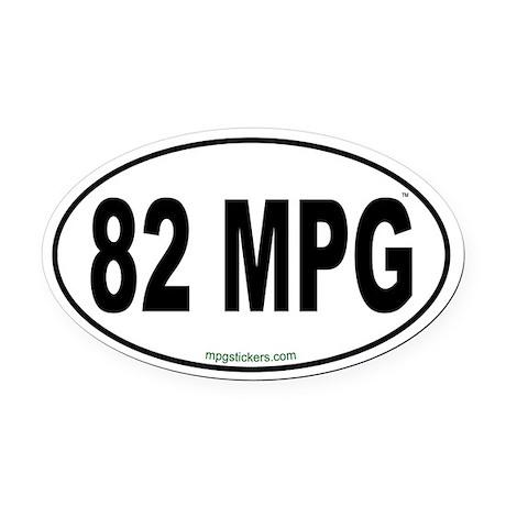 82 MPG Euro Oval Car Magnet