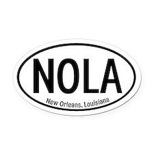 NOLA New Orleans, Louisiana Oval Car Magnet