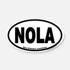 "New Orleans, Louisiana ""NOLA"" Oval Car Magnet"