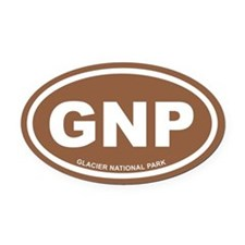 Brown Glacier National Park Euro Oval Car Magnet