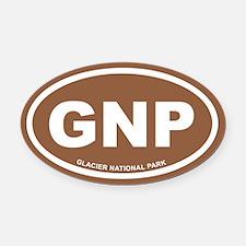Brown Glacier National Park Euro Oval Car Magnet