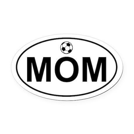 Soccer MOM Oval Car Magnet