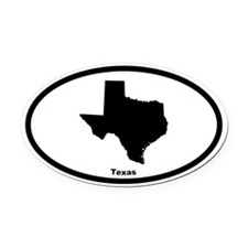 Texas State Outline Oval Car Magnet