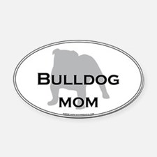 Bulldog MOM Oval Car Magnet
