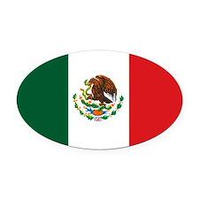 """Mexico Flag"" Oval Car Magnet"