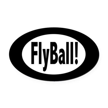 FlyBall! Oval Car Magnet