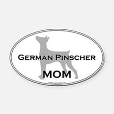 German Pinscher MOM Oval Car Magnet