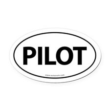 PILOT Euro Style Auto Oval Car Magnet -White