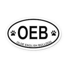 Olde English Bulldog Oval Car Magnet
